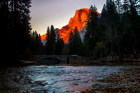 Half Dome  With Merced River